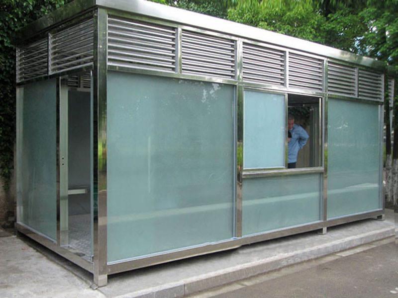 工地大容积不锈钢吸烟亭