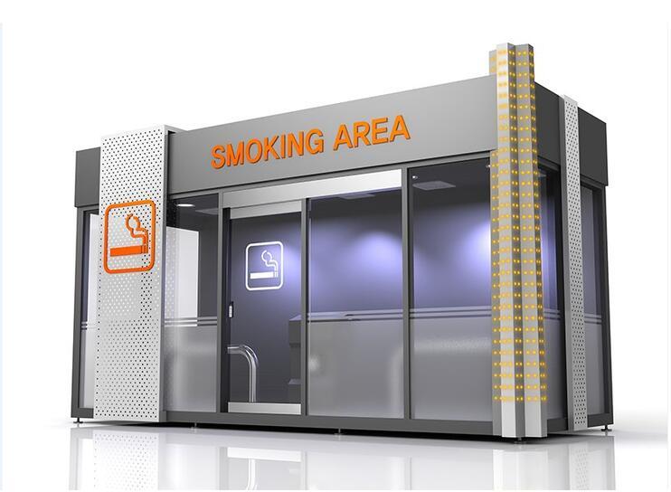 经典半封闭式吸烟亭