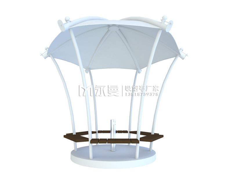 圆形伞状公共吸烟亭